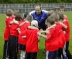 Fussballcamp-gruppe